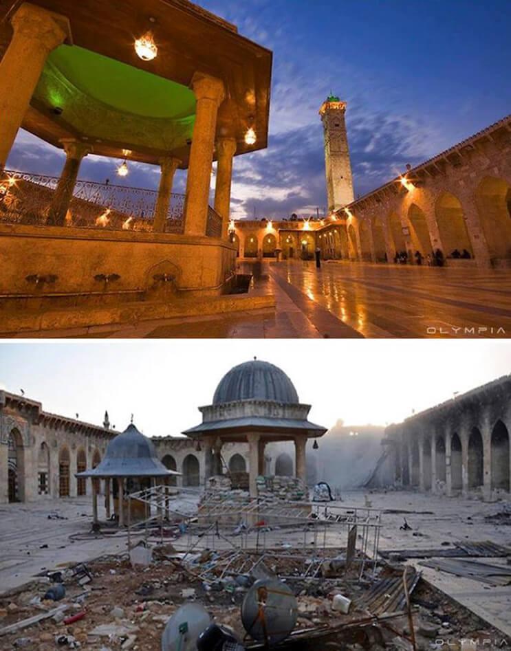 El antes y el después de una ciudad afectada por las guerras 9