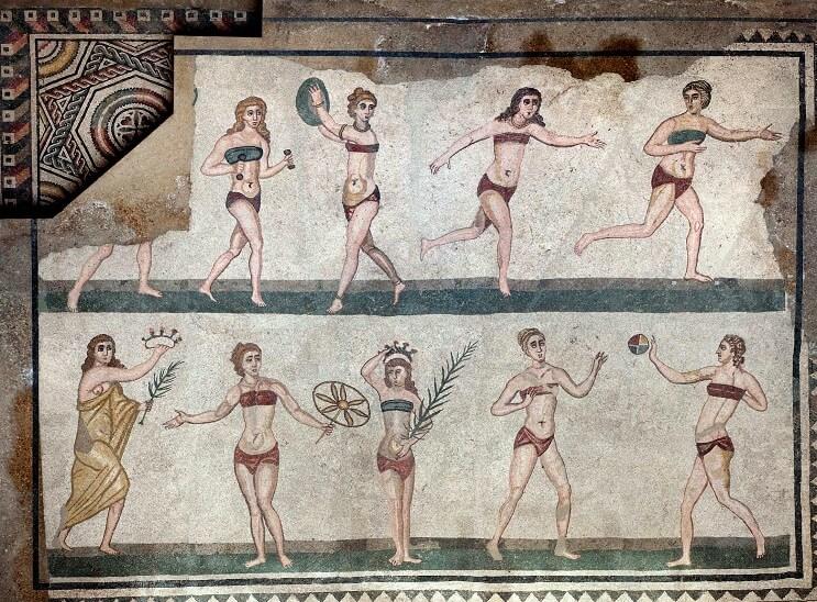 El revolucionario bikini cumple 70 años - Villa Romana de Casele