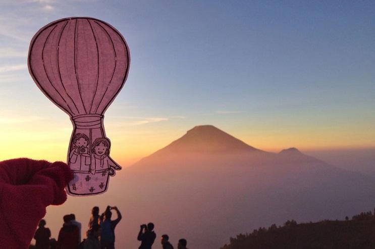 En lugar de selfies, esta pareja documenta sus viajes con divertidos doodles 2