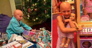 Esta niña no aguantó las lágrimas al ver la muñeca que le obsequiaron