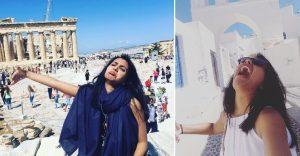 Esta novia tuvo que irse de luna de miel sola y sus fotos muestran cómo la pasó