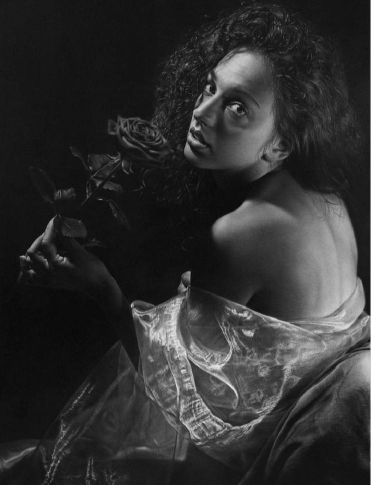 Este artista pasa cientos de horas dibujando obras hiperrealistas con técnica renancentista - Emanuele Dascanio 2