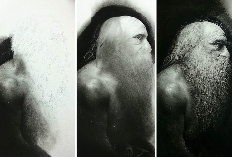 Este artista pasa cientos de horas dibujando obras hiperrealistas con técnica renancentista - Emanuele Dascanio 4