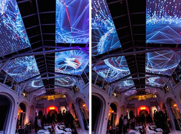 Este artista recreó la impresionante visión de un caleidoscopio en el techo 01