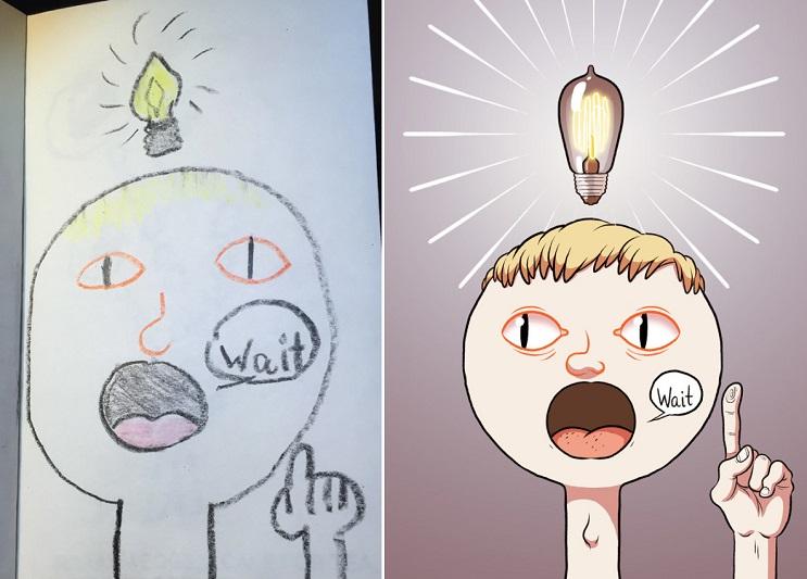 Este ilustrador le volvió a dar vida a sus dibujos de niñez y el resultado es sorprendente 03