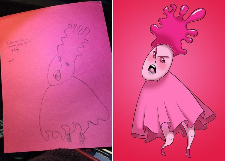 Este ilustrador le volvió a dar vida a sus dibujos de niñez y el resultado es sorprendente 05