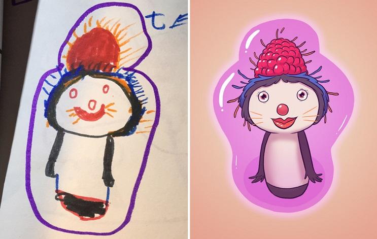 Este ilustrador le volvió a dar vida a sus dibujos de niñez y el resultado es sorprendente 07