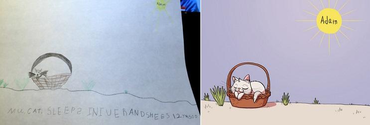 Este ilustrador le volvió a dar vida a sus dibujos de niñez y el resultado es sorprendente 11