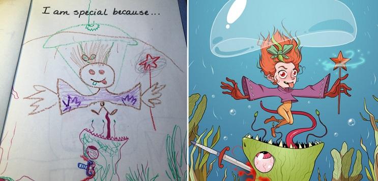 Este ilustrador le volvió a dar vida a sus dibujos de niñez y el resultado es sorprendente 12