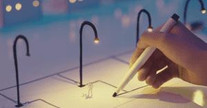 Este lapicero usa la tinta para conducir la electricidad y traer dibujos a la vida
