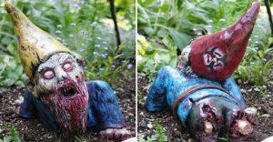 ¿Fanático de los zombis? Estos adornos para tu jardín te encantarán