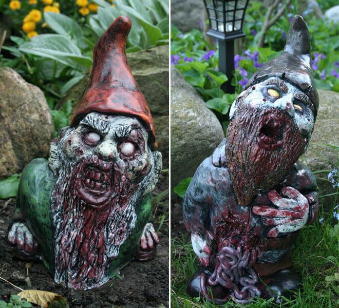 Fanático de los zombis Estos adornos para tu jardín te encantarán 03