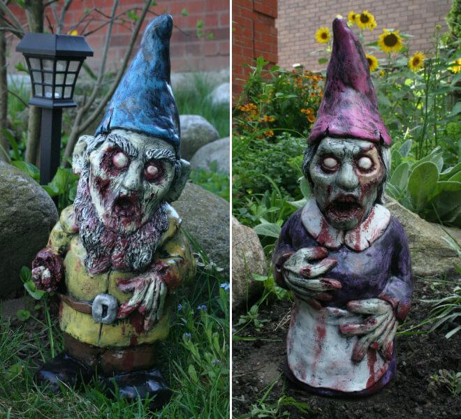 Fanático de los zombis Estos adornos para tu jardín te encantarán 04