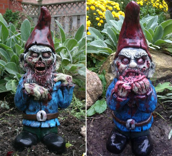 Fanático de los zombis Estos adornos para tu jardín te encantarán 05