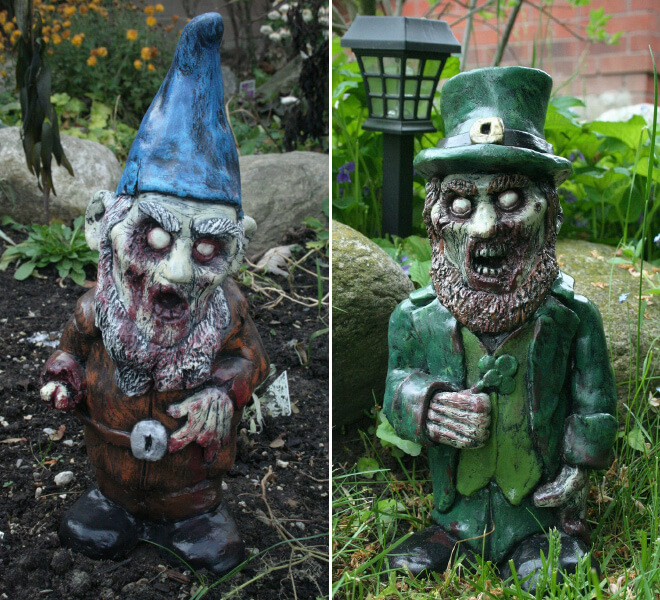 Fanático de los zombis Estos adornos para tu jardín te encantarán 07