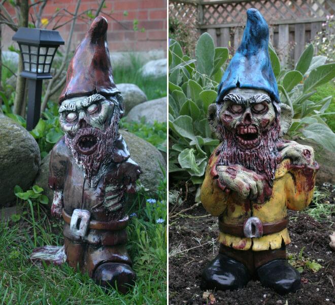 Fanático de los zombis Estos adornos para tu jardín te encantarán 08
