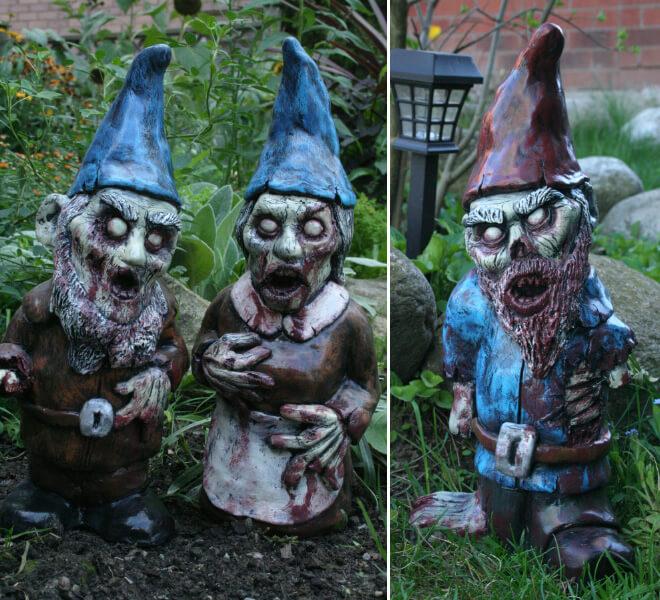 Fanático de los zombis Estos adornos para tu jardín te encantarán 09