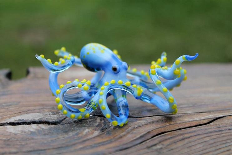Impresionantes animales hechos de vidrio soplado 07