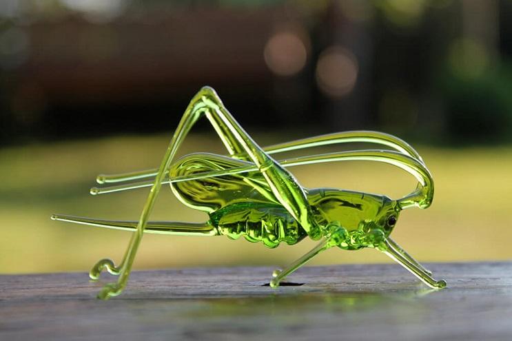 Impresionantes animales hechos de vidrio soplado
