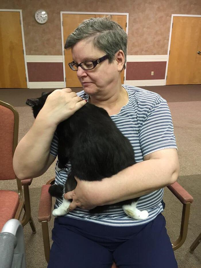 Increíble iniciativa que lleva amor a los adultos mayores a través de gatos adultos 05