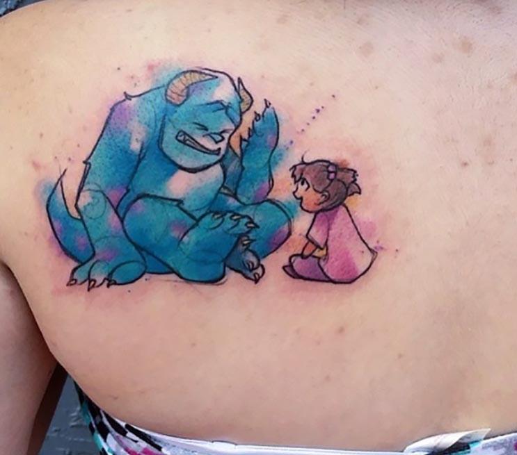 Increíbles tatuajes inspirados en las películas de Pixar 12