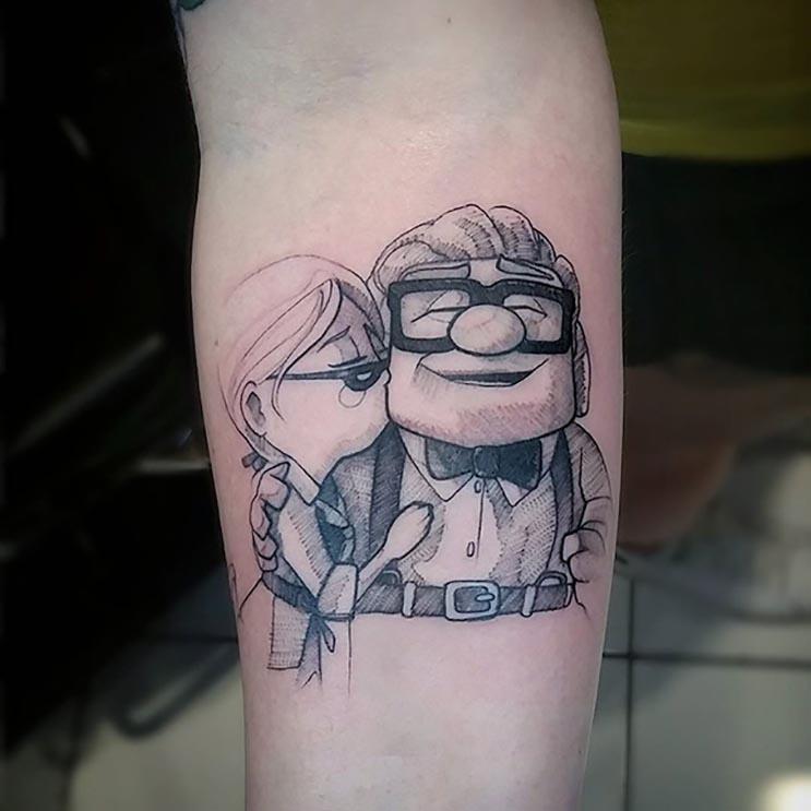 Increíbles tatuajes inspirados en las películas de Pixar 15