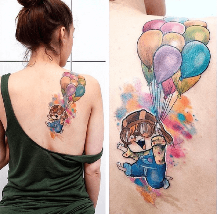 Increíbles tatuajes inspirados en las películas de Pixar 40