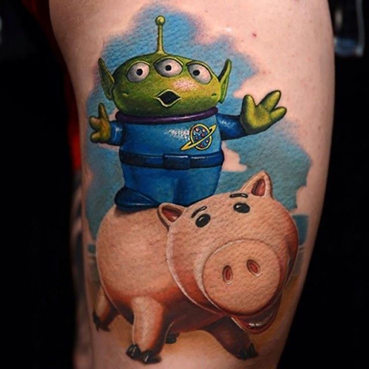 Increíbles tatuajes inspirados en las películas de Pixar 5