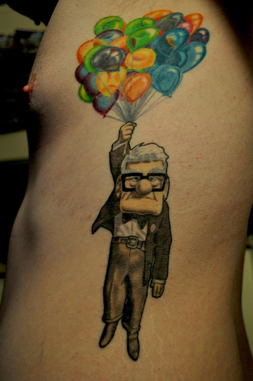 Increíbles tatuajes inspirados en las películas de Pixar