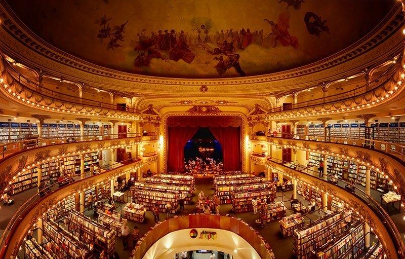 La librería más bella del mundo situada en un antiguo teatro de Argentina 01