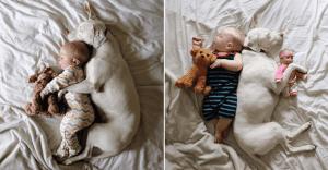 La ternura de este bebé con su perrita les robará el corazón