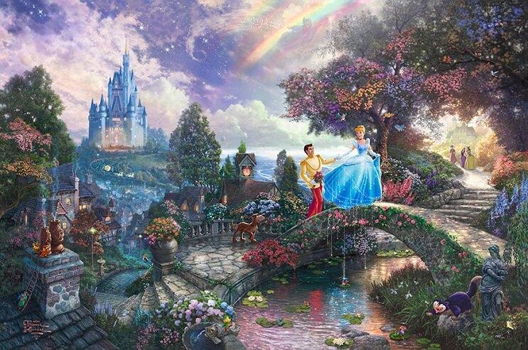 Las pinturas de Disney de este artista se ven mejor que las escenas originales 01