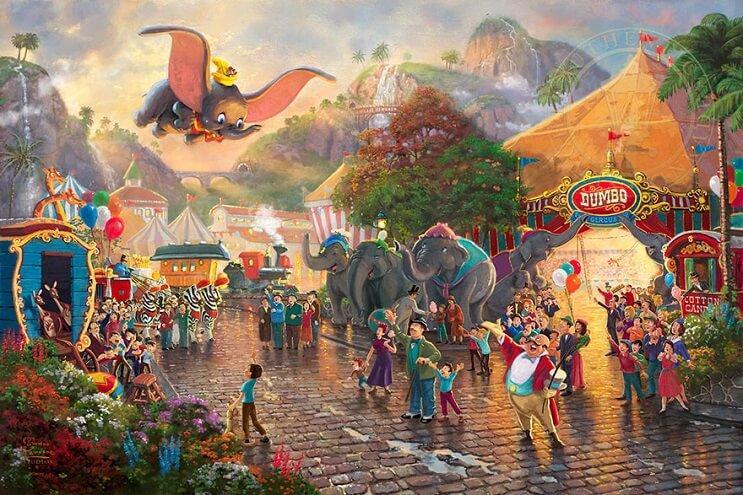 Las pinturas de Disney de este artista se ven mejor que las escenas originales 02