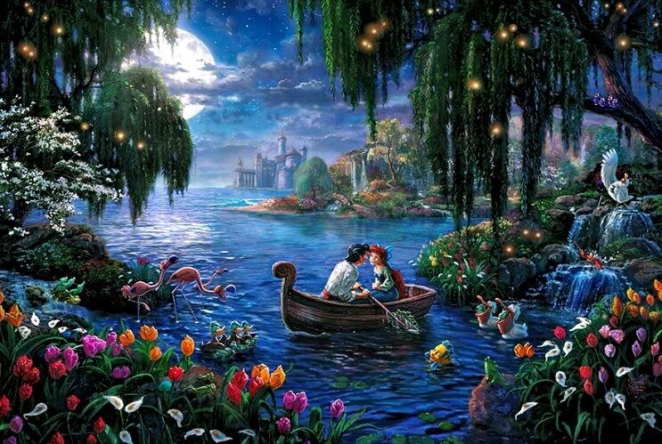 Las pinturas de Disney de este artista se ven mejor que las escenas originales 03