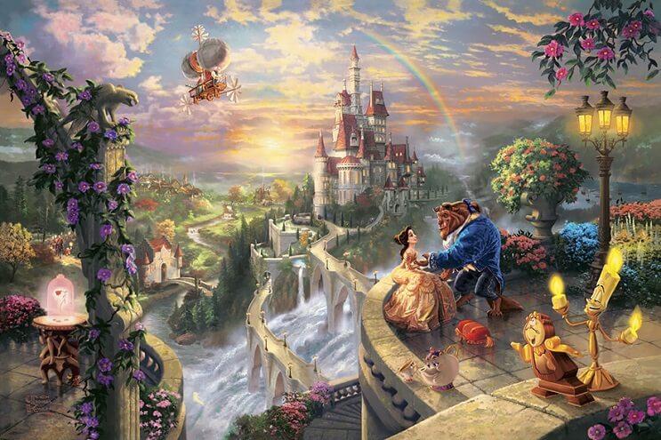 Las pinturas de Disney de este artista se ven mejor que las escenas originales 04