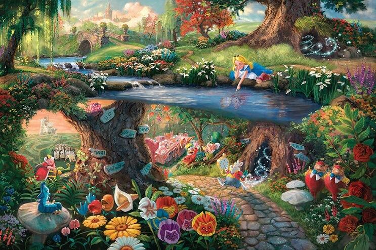 Las pinturas de Disney de este artista se ven mejor que las escenas originales 06