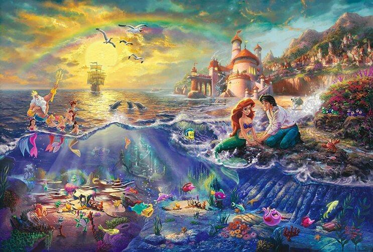 Las pinturas de Disney de este artista se ven mejor que las escenas originales 07