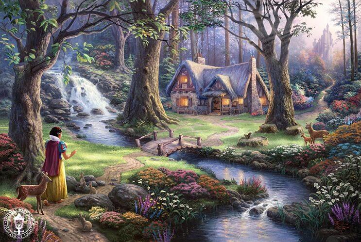Las pinturas de Disney de este artista se ven mejor que las escenas originales 08
