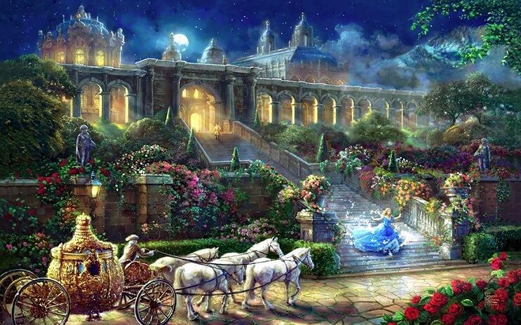 Las pinturas de Disney de este artista se ven mejor que las escenas originales 09