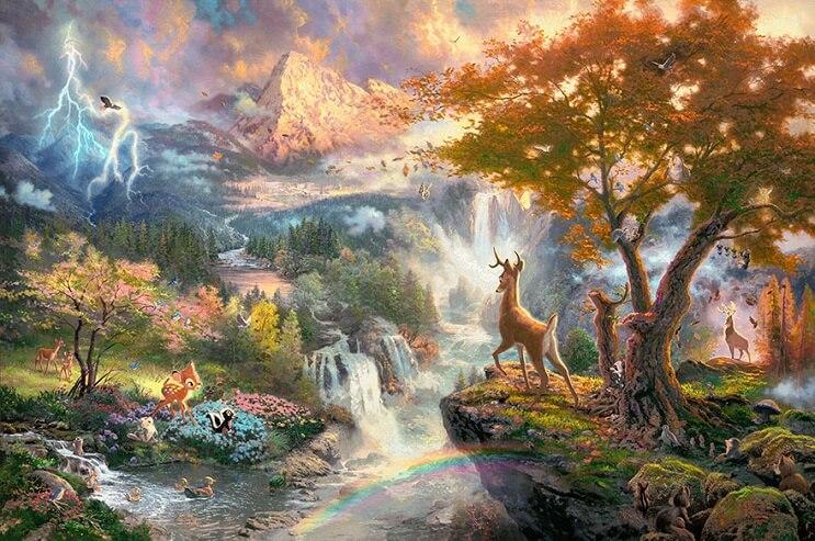 Las pinturas de Disney de este artista se ven mejor que las escenas originales 10