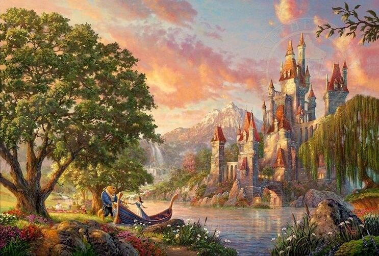 Las pinturas de Disney de este artista se ven mejor que las escenas originales 11