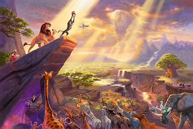 Las pinturas de Disney de este artista se ven mejor que las escenas originales 13