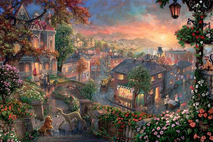 Las pinturas de Disney de este artista se ven mejor que las escenas originales 14