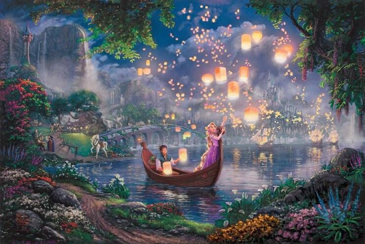 Las pinturas de Disney de este artista se ven mejor que las escenas originales 15