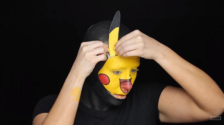 Mira cómo esta mujer se transforma en Pikachu en unoWs simples pasos 4