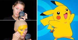 Mira cómo esta mujer se transforma en Pikachu en unos simples pasos