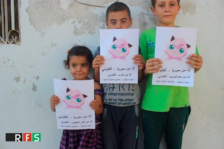 Niños sirios piden ayuda a los fanáticos de Pokémon GO2