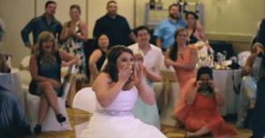 Novia recibe una sorpresa inesperada que nadie se pudo imaginar