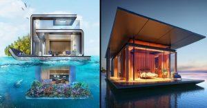 Nuevas construcciones de casas flotantes te inducirán directo a la vida marina