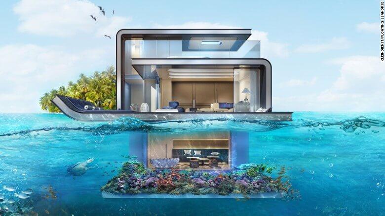 Nuevas construcciones de casas flotantes te inducirán directo a la vida marina 01